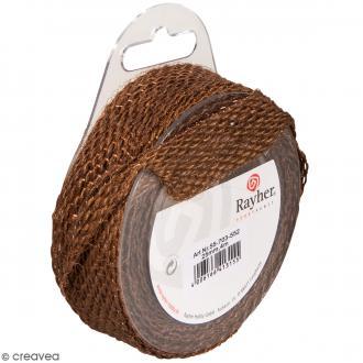 Ruban de jute - Marron brun - 2,5 cm - 4 m