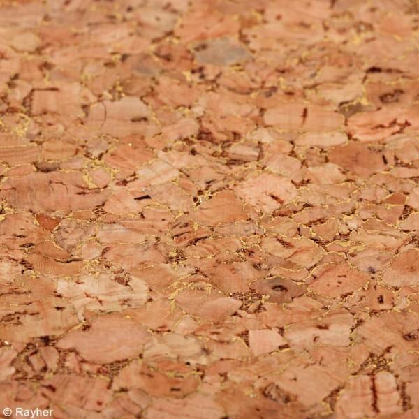 Coupon de tissu de Liège - Effet doré - 30 x 45 cm - Photo n°2