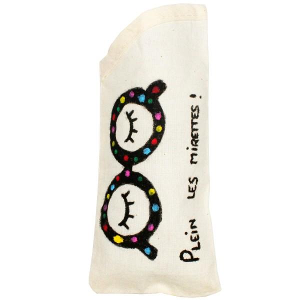 Etui à lunettes - Coton - 18 x 8 cm - Photo n°2