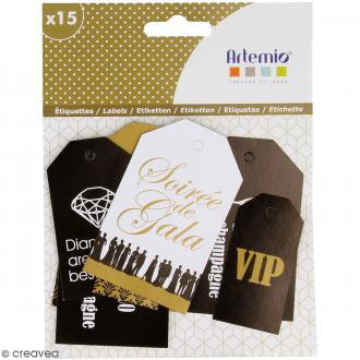 Die cut Artemio - Etiquettes Gold - 15 pcs