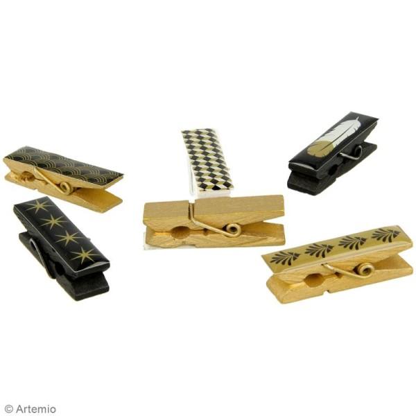 Pince à linge en époxy - Gold - 4,5 x 1,2 cm - 6 pcs - Photo n°2