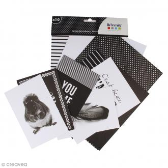 Set carterie Black & White - 10 cartes