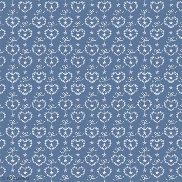 Feutrine à motifs Artemio - Givré Coeurs - 1 mm - 30 x 30 cm - Photo n°1