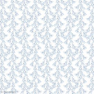 Feutrine à motifs Artemio - Givré Bleu - 1 mm - 30 x 30 cm