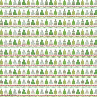 Feutrine à motifs Artemio - Classique Sapins - 1 mm - 30 x 30 cm