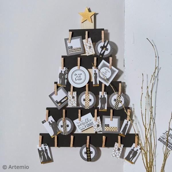 Sapin à pinces pour Calendrier de l'Avent - Bois - 50 x 36 cm - Photo n°2