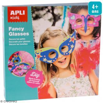 Kit déguisement - Masques à décorer Fancy Glasses