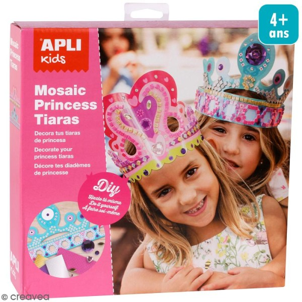 Kit mosaïque mousse EVA - Diadèmes de princesse - Photo n°1
