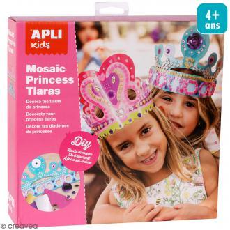 Kit mosaïque mousse EVA - Diadèmes de princesse