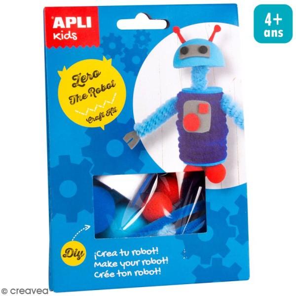 Kit créatif Personnage en mousse et fil chenille - Zero le robot - Photo n°1