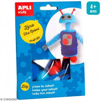 Kit créatif Personnage en mousse et fil chenille - Zero le robot