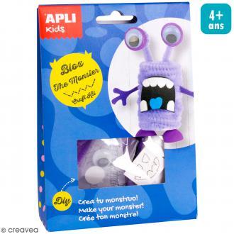 Kit créatif Personnage en mousse et fil chenille - Bloc le monstre