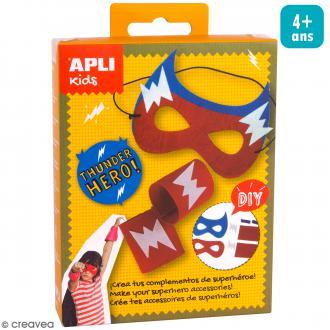 Mini Kit créatif Masque - Super Hero rouge et bleu