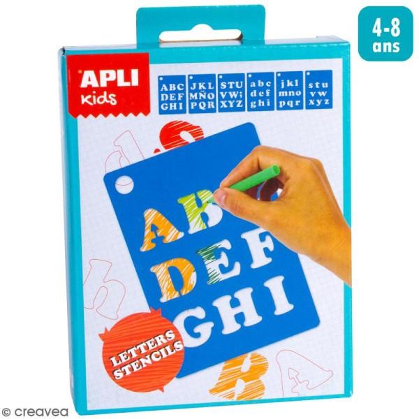 Mini Kit créatif Pochoirs - Lettres - Photo n°1