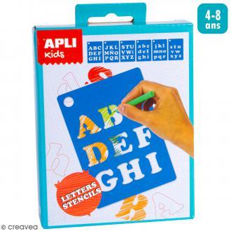 Mini Kit créatif Pochoirs - Lettres