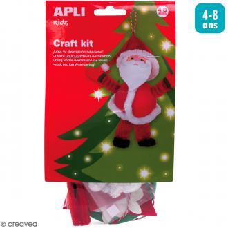 Kit créatif Personnage en mousse et fil chenille - Père Noël