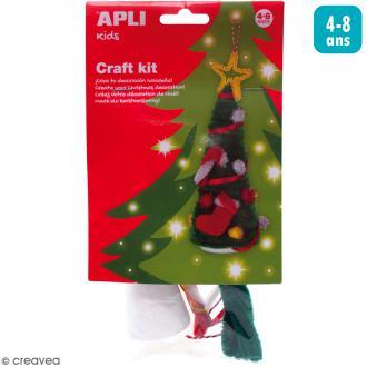 Kit créatif Arbre en fil chenille - Sapin de Noël
