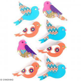 Stickers 3D Oiseau - 8 autocollants