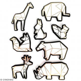 Stickers 3D Animal zoo - 8 autocollants