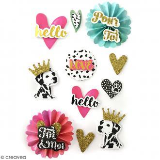 Stickers 3D Dalmatien - 11 autocollants
