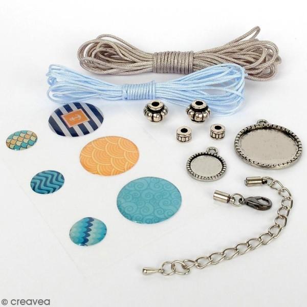 Kit pour création de bijoux Océan - Collier et bracelet à tresser - Photo n°2