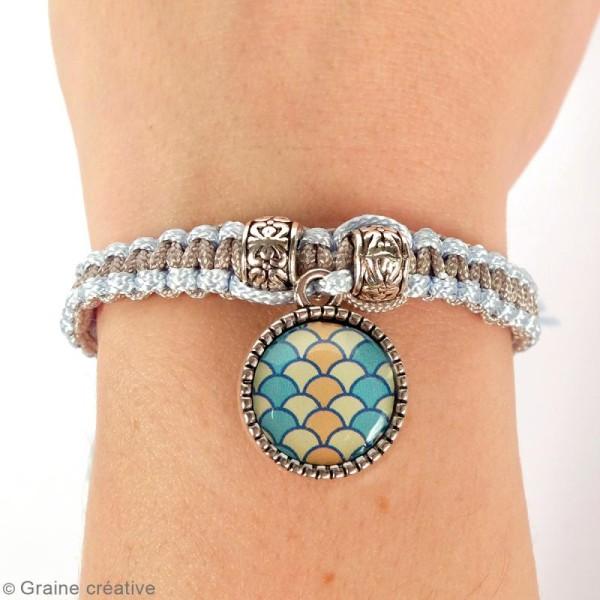 Kit pour création de bijoux Océan - Collier et bracelet à tresser - Photo n°3
