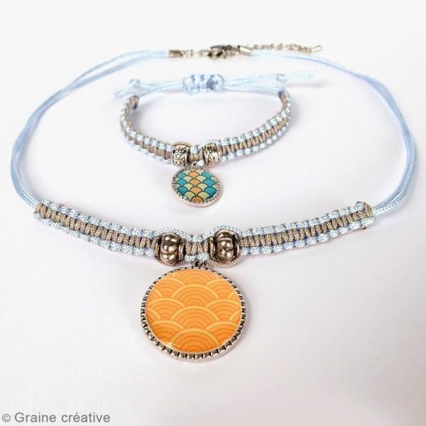 Kit pour création de bijoux Océan - Collier et bracelet à tresser - Photo n°4