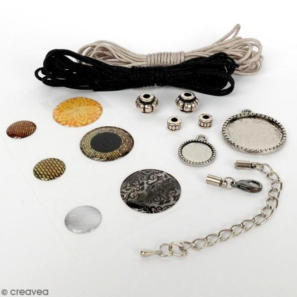 Kit pour création de bijoux Bling Bling - Collier et bracelet à tresser - Photo n°2