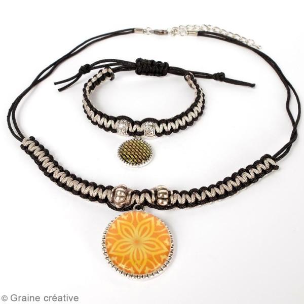 Kit pour création de bijoux Bling Bling - Collier et bracelet à tresser - Photo n°4