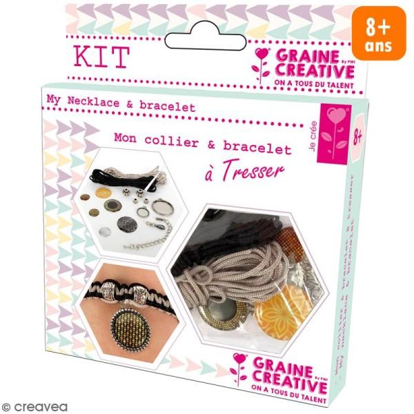 Kit pour création de bijoux Bling Bling - Collier et bracelet à tresser - Photo n°1