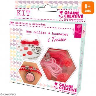 Kit pour création de bijoux Amour - Collier et bracelet à tresser
