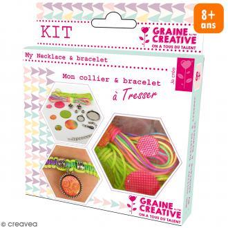 Kit pour création de bijoux Rainbow - Collier et bracelet à tresser