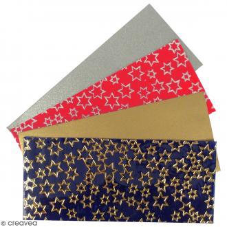 Plaque de cire à découper - Noël - 6,5 x 15 x 0,5 cm - 4 feuilles