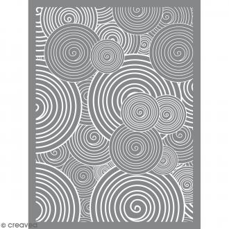 Pochoir pour impression de motifs sur pâte polymère - Spirale - 11,4 x 15,3 cm