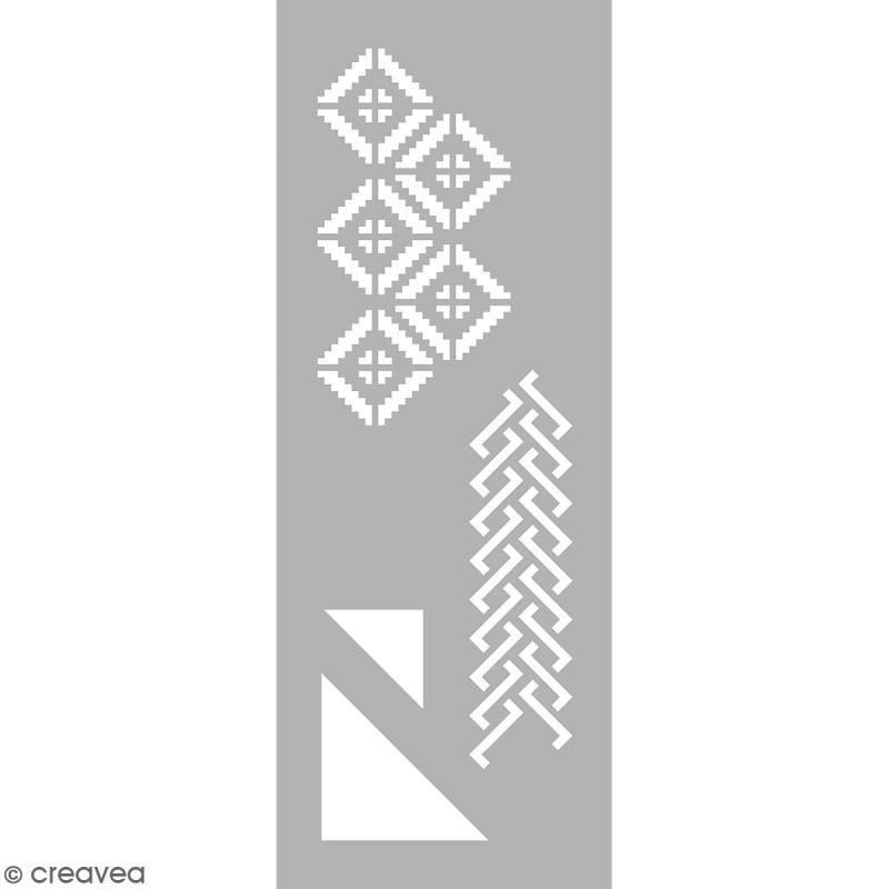 Pochoir home deco g om trique 15 x 40 cm pochoir for Pochoir geometrique
