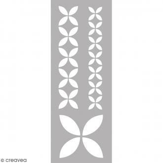 Pochoir Home Deco - Géométrique floral - 15 x 40 cm