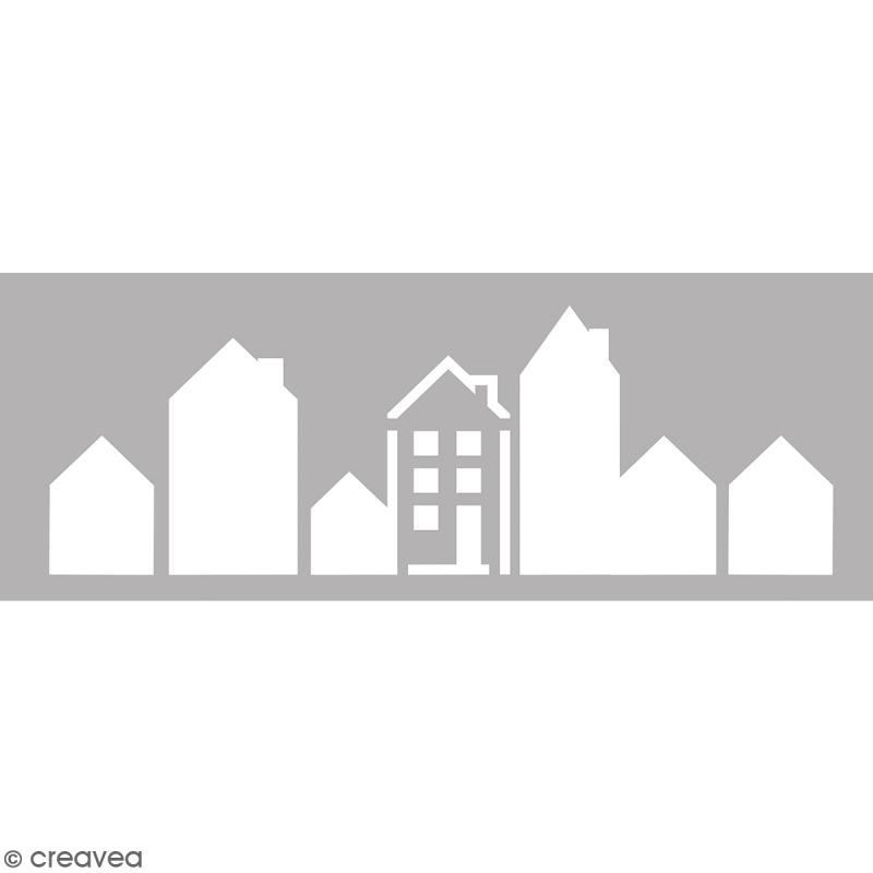 Pochoir Home Deco - Maison - 15 x 40 cm - Photo n°1