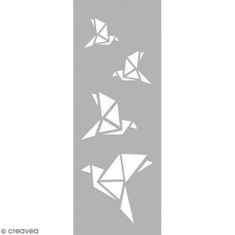 Pochoir Home Deco - Oiseaux Origami - 15 x 40 cm
