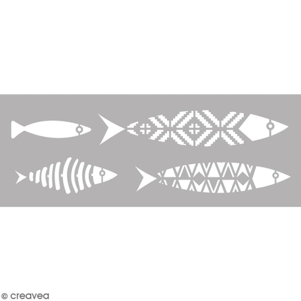 Pochoir Home Deco - Poissons - 15 x 40 cm - Photo n°1