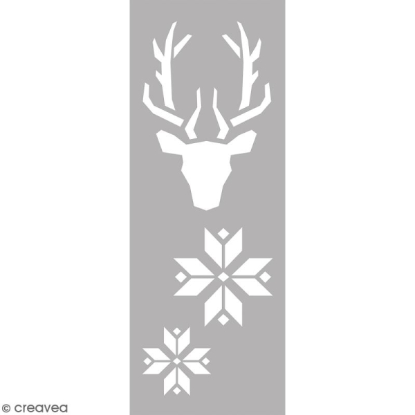 Pochoir Home Deco - Tête de cerf - 15 x 40 cm - Photo n°1