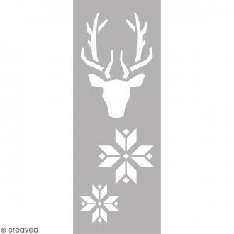 Pochoir Home Deco - Tête de cerf - 15 x 40 cm