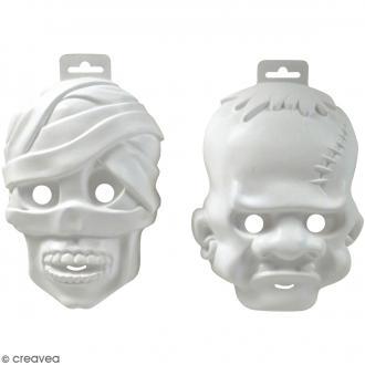 Lot de 2 masques fins Monstres - 22 x 16 cm
