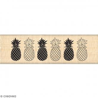 Tampon Bois Bordure Ananas - 3 x 10 cm