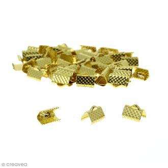 Fermoir ruban - Doré - 10 mm - 50 pcs