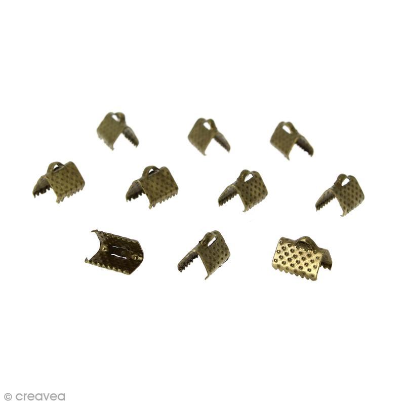 Fermoir ruban - Bronze - 10 mm - 10 pcs - Photo n°1