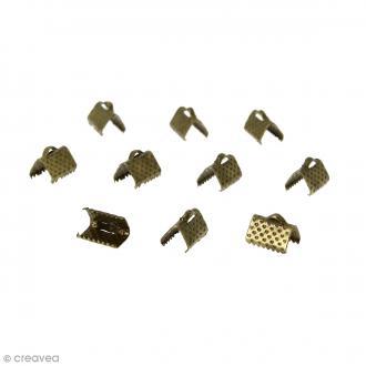 Fermoir ruban - Bronze - 10 mm - 10 pcs