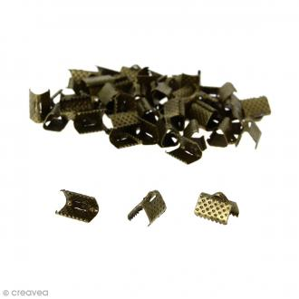Fermoir ruban - Bronze - 10 mm - 50 pcs