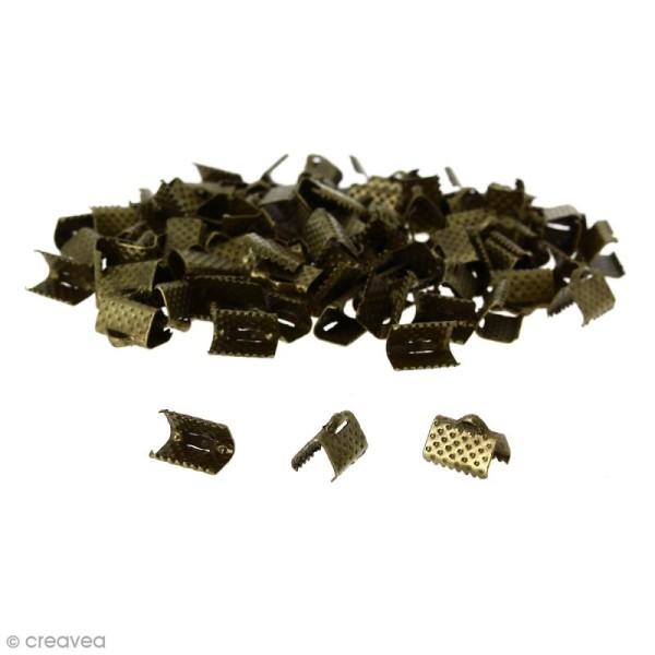 Fermoir ruban - Bronze - 10 mm - 100 pcs - Photo n°1