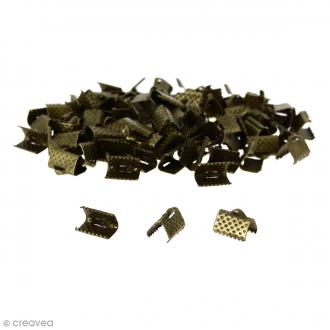 Fermoir ruban - Bronze - 10 mm - 100 pcs