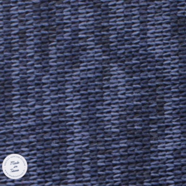 Tissu Maille chinée envers molleton - Bleu - Photo n°1